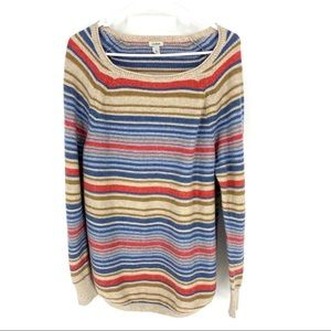 L. L. Bean Recycled Cotton Striped Knit Sweater